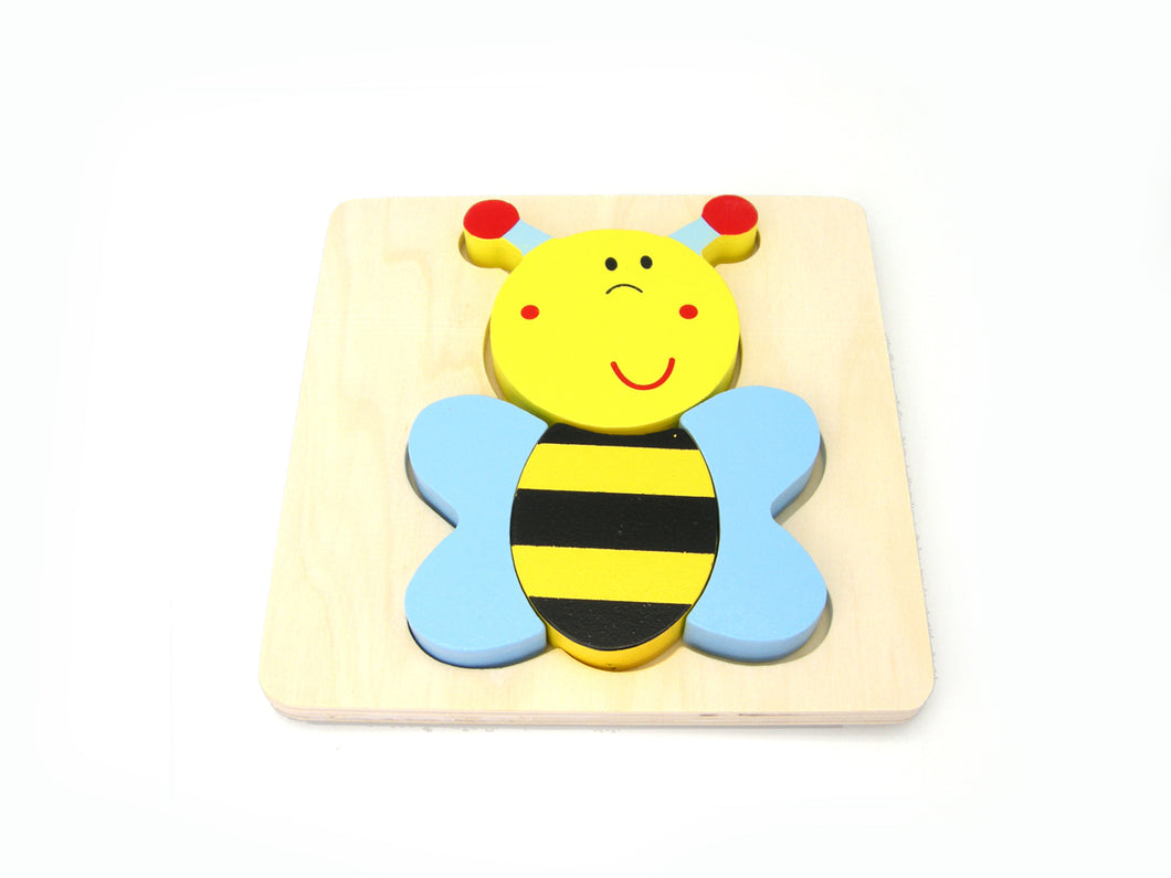 Wooden Chunky Puzzle - BEE