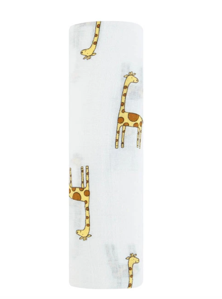 Cotton Muslin Swaddle - GIRAFFE