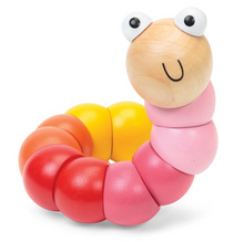 Load image into Gallery viewer, Wooden jointed worm - PINK