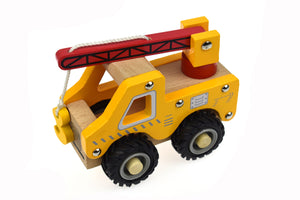 Wooden Vehicle - CRANE TRUCK