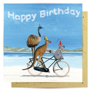 Greeting Card - BIRTHDAY BEACH BIKE