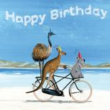 Load image into Gallery viewer, Greeting Card - BIRTHDAY BEACH BIKE