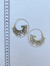 Load image into Gallery viewer, Autumn Spiral Brass Earrings