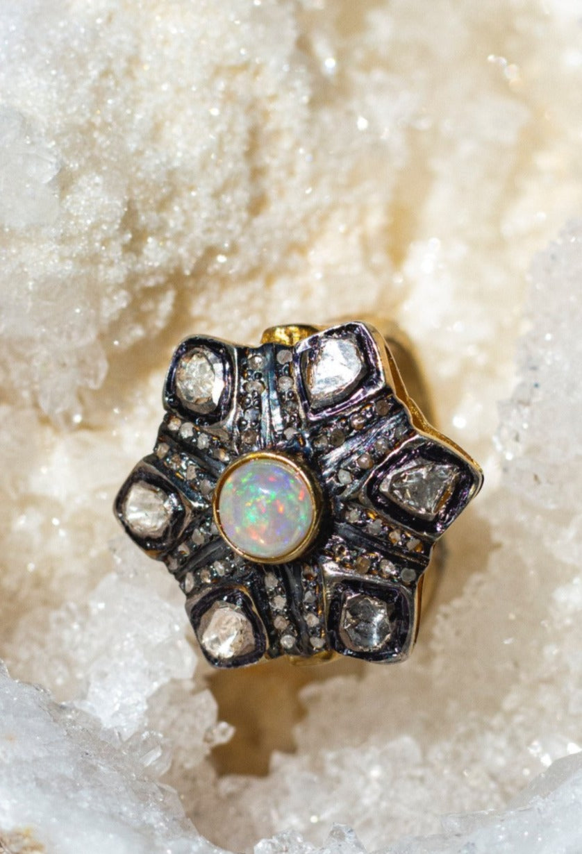 Shaily Opal + Diamond Ring