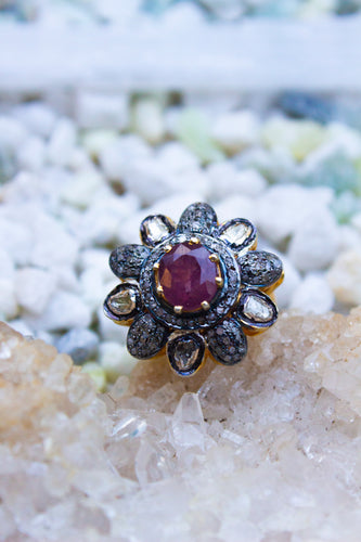 Shakti Diamond + Ruby Ring