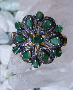 Shivani Emerald + Diamond Ring