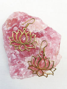Lotus  Brass Earrings