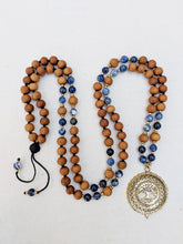 Load image into Gallery viewer, Yoga Mala | Sodalite Sandalwood Tree of Life Pendant Necklace | 108 Beads