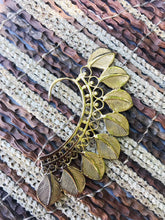 Load image into Gallery viewer, Brass Ear Cuff | Tribal Leaves | Ear Wrap