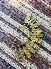 Load image into Gallery viewer, Brass Ear Cuff | Tribal Feather | Ear Wrap |