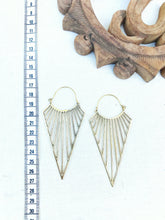 Load image into Gallery viewer, Triangle Joy Large Brass Earrings