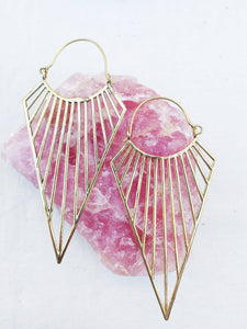 Triangle Joy Large Brass Earrings