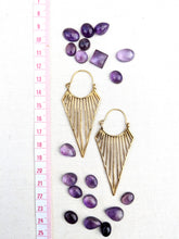 Load image into Gallery viewer, Triangle Joy Brass Earrings