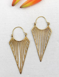 Triangle Joy Brass Earrings