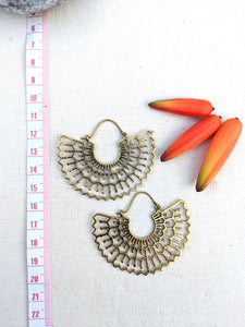 Toledo Brass Earrings