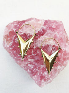 Triangle Brass Earrings