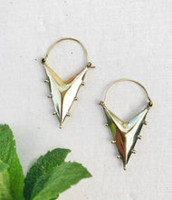 Load image into Gallery viewer, Triangle Brass Earrings