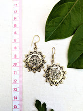 Load image into Gallery viewer, Seed of Life Brass Mandala Earrings