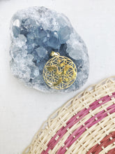 Load image into Gallery viewer, OM Flower of Life Pendant Necklace | With or Without Chain