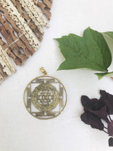 Load image into Gallery viewer, Sri Yantra Mandala Pendant Necklace | With or Without Chain
