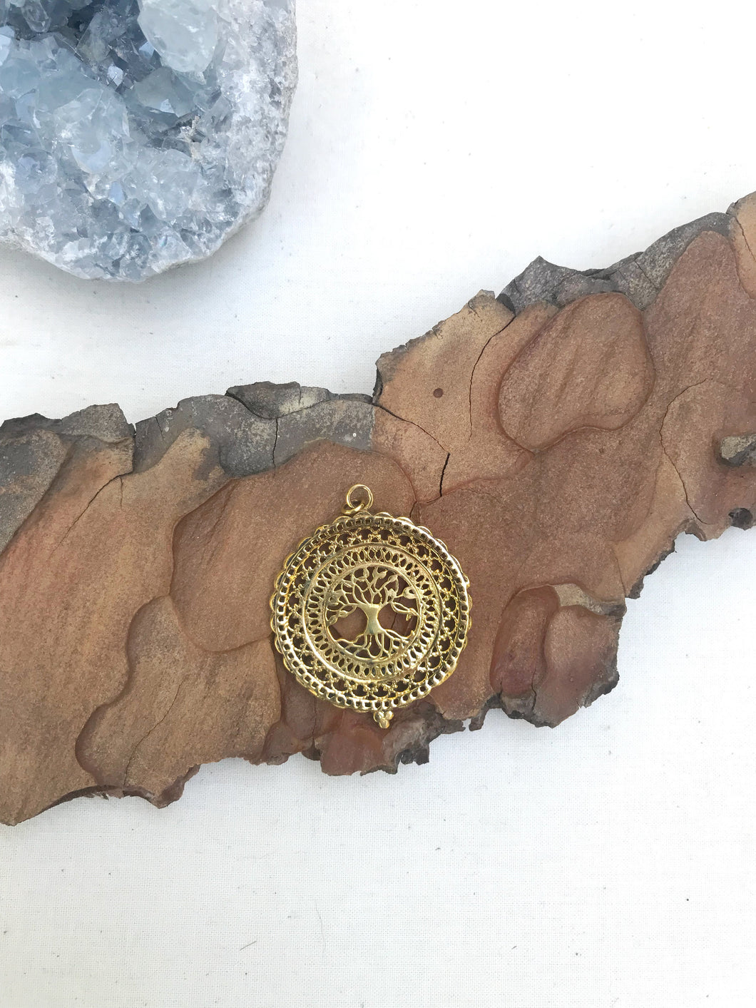 Tree of Life Mandala Pendant Necklace  |  With or Without Chain