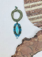 Load image into Gallery viewer, Labradorite Necklace | Micro Macrame | Handmade One of a Kind | Silver Accents