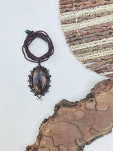Load image into Gallery viewer, Jasper Necklace | Micro Macrame | Handmade One of a Kind | Silver Accents