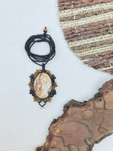 Load image into Gallery viewer, Picture Jasper Necklace | Micro Macrame | Handmade One of a Kind | Silver Accents
