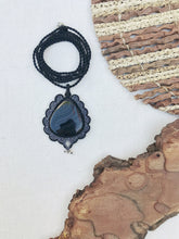 Load image into Gallery viewer, Agate Necklace | Micro Macrame | Handmade One of a Kind | Silver Accents