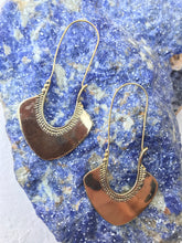 Load image into Gallery viewer, Cleopatra Goddess Brass Hoop Earrings