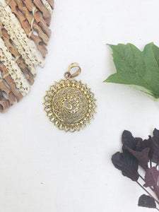 OM Mandala Pendant Necklace | With or Without Chain