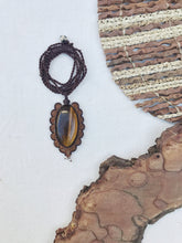 Load image into Gallery viewer, Tigers Eye Necklace | Micro Macrame | Handmade One of a Kind | Silver Accents