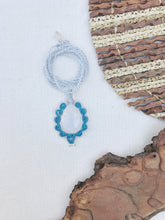 Load image into Gallery viewer, Rainbow Moonstone Necklace | Micro Macrame | Handmade One of a Kind | Silver Accents