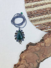 Load image into Gallery viewer, Aventurine Necklace | Micro Macrame | Handmade One of a Kind | Silver Accents