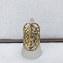 Load image into Gallery viewer, Sri Yantra Brass Ring