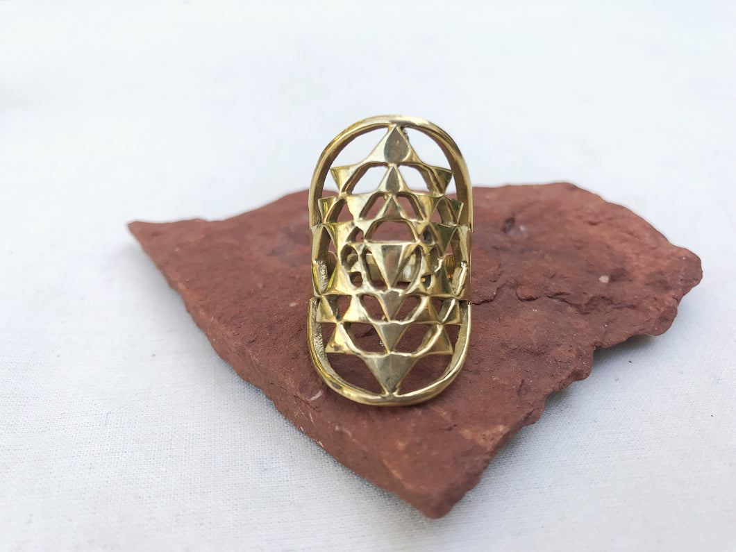 Sri Yantra Brass Ring