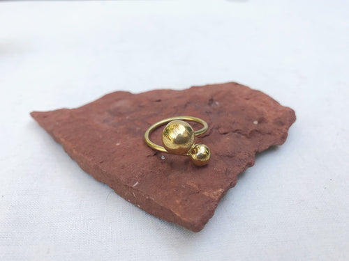 Sacred Spheres Brass Ring | Adjustable