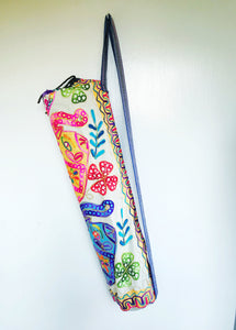 Handmade Indian Elephant Yoga Mat Bag Embroidered Vintage Boho Colorful  Ganesha
