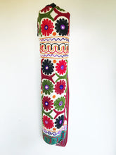 Load image into Gallery viewer, Handmade Indian Flower Yoga Mat Bag Embroidered Vintage Boho Colorful Mandala