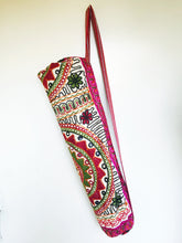 Load image into Gallery viewer, Handmade Indian Mandala Yoga Mat Bag Embroidered Vintage Boho Colorful Flower