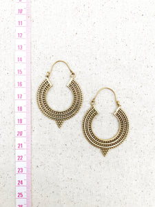 Indian Hoop Brass Earrings