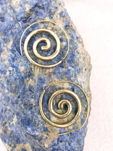 Load image into Gallery viewer, Solid Spiral Brass Earrings
