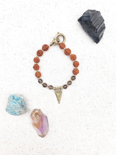 SOUTH Rudraksha Healing Crystal Bracelet