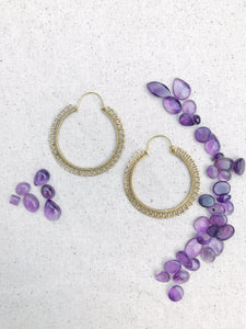 Simple Brass Hoop Earrings,