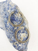Load image into Gallery viewer, Simple Brass Hoop Earrings,