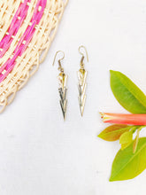 Load image into Gallery viewer, Arrow Head Brass Earrings