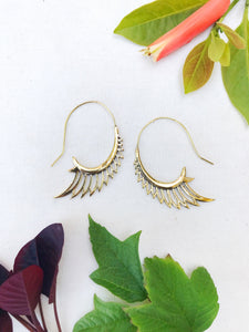 Angel Wings Brass Earrings