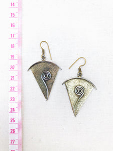 Inner Growth Brass Earrings