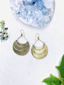 Moving Forward Brass Earrings