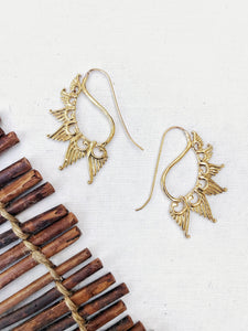 Inner Flame Brass Earrings